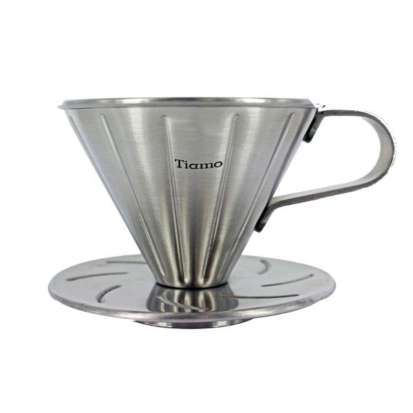 ティアモ 円錐ステンレスドリッパー HG5033 (1〜2人用) コーヒー通販サイト 珈琲問屋オンラインストア