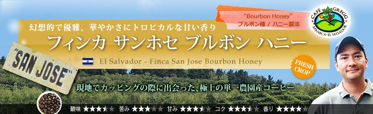 エルサルバドル フィンカ サンホセ ブルボン ハニー El Salvador - Finca San Jose Bourbon Honey