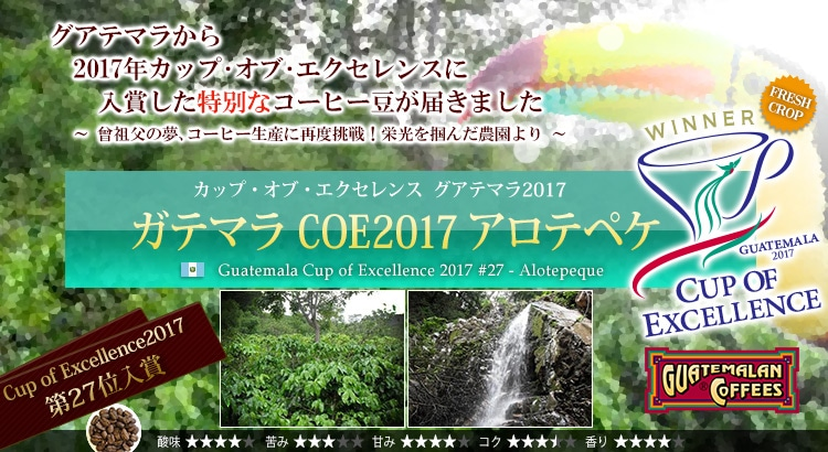 グアテマラ COE2017 #27 アロテペケ - Guatemala Cup of Excellence 2017 #27 Alotepeque