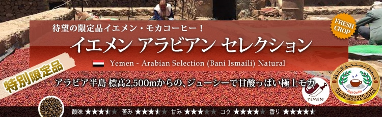 イエメン アラビアン セレクション - Yemen Arabian Selection (Bani Ismaili) Natural