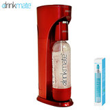 DrinkMate 家庭用炭酸飲料 ソーダメーカー ドリンクメイト スターターキット レッド DRM1002 ワインやジュースもOK! 送料無料