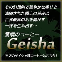 ゲイシャ -Geisha- コーヒー