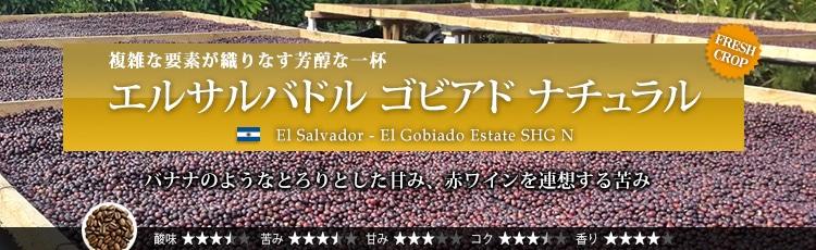 エルサルバドル ゴビアド ナチュラル - El salvador El Gobiado Estate SHG N