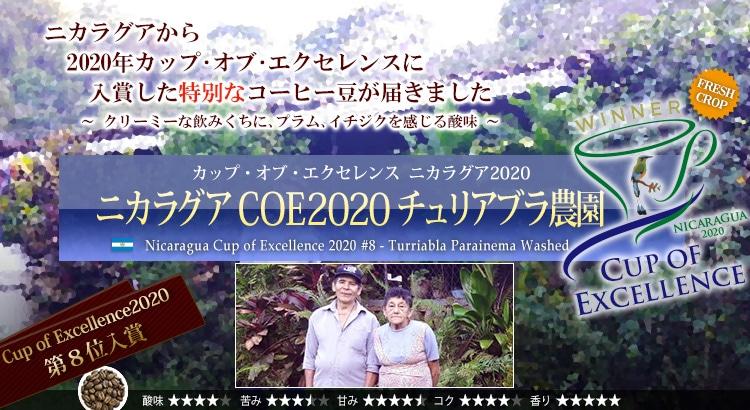 ニカラグア COE2020 #8 チュリアブラ農園 - Nicaragua Cup of Excellence 2020 #8 Turriabla Parainema Washed