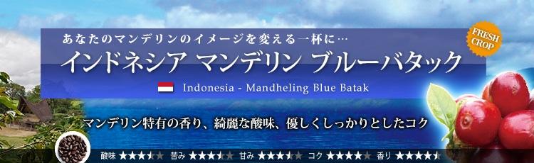 インドネシア マンデリン ブルーバタック - Indonesia Mandheling Blue Batak